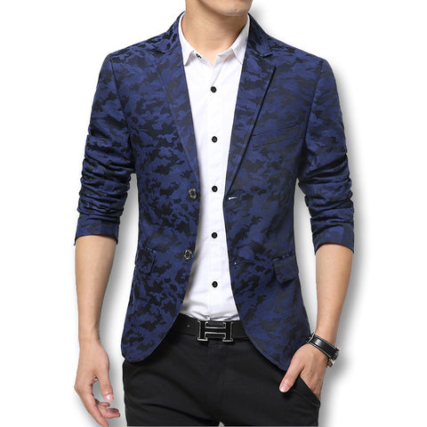 Blazers 2016 Fashion Brand Camouflage Slim Fit Long Sleeve Blazer Spring Autumn Casual Floral Blazers 49