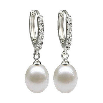 2016 100% genuine brand pearl jewelry natural pearl earrings cultured freshwater pearls with 925 silver,earring