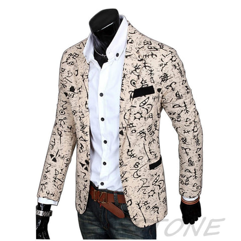 2016 Stylish Mens Casual Slim Fit three Buttons Suit Blazer Coat Jacket Outwear 2016 49