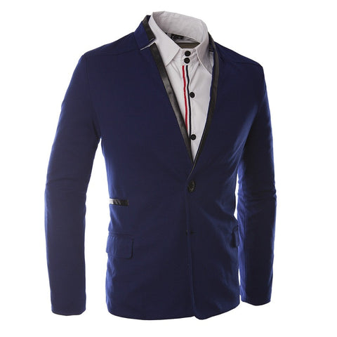Casual Suit Man Spell Skin Design Suits Slim Fit High Quality Fashion Men's business Blazer 49