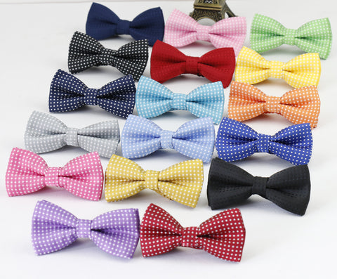 New Fashion Dot Kids Bowties Colorful Girls Boys Bow Ties Baby Children neckwear Adjustable