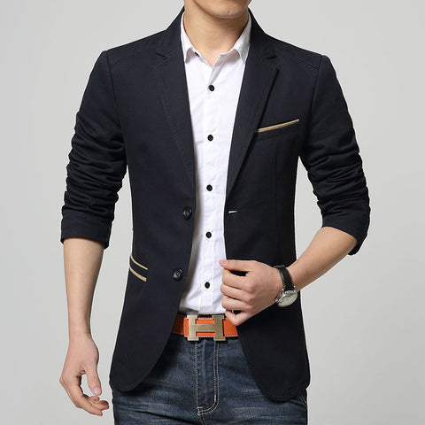 Fashion Youth Pure Color Casual Blazer Men,Long Sleeves Slim fit blazer masculino 49