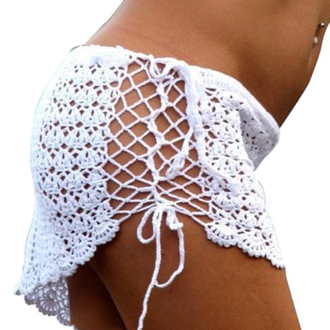 Bikini Bottoms Cover Up Lace Crochet Skirts Beachwear 46