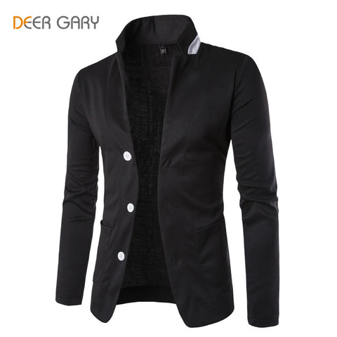 2016 New Spring Fashion Brand Men Blazer Pure Color Turn-down Collar Blazer Masculino Casual Slim Jacket Suit Men