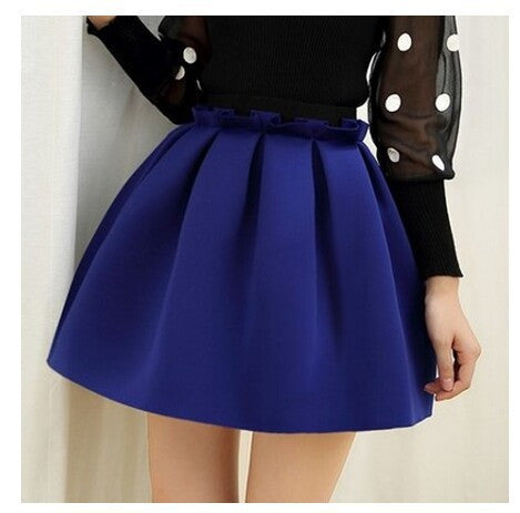 skirt Neoprene new space cotton elastic force high waist skirts pleated skirt women skirt casual 46