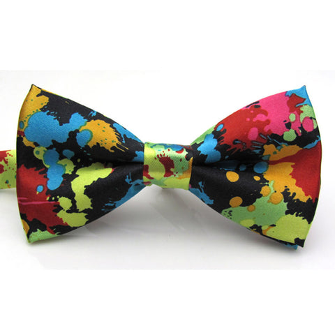 Charming Adjustable Colorful Butterfly Printing Men Bow Ties Wedding Party Essentials Tie