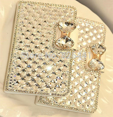 IPhone - Rhinestone Bow Phone Case For IPhone 5/5S/SE & Samsung Galaxy S3/S4/S5