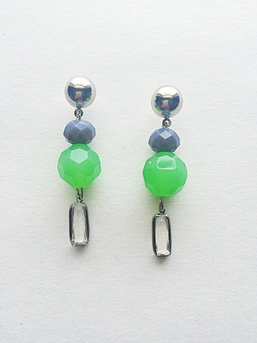 Green Waves Drop Earrings - M Renee Design