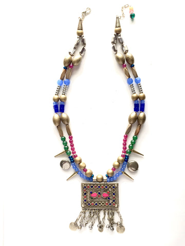 Color Wheel One of A Kind Statement Necklace - M Renee Design