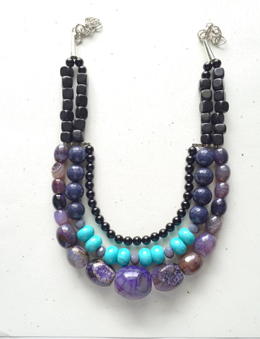 Quartz statement Necklace-One of a Kind - M Renee Design