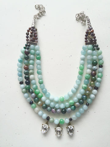 Jade Dynasty Necklace One of a Kind - M Renee Design