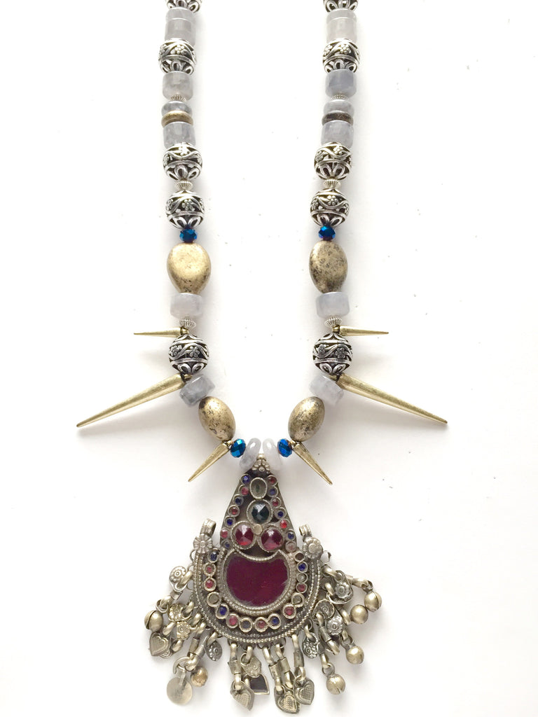 Warrior Princess One of a Kind Statement Necklace - M Renee Design