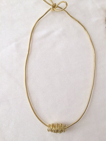 Gold Wire Wrapped Choker
