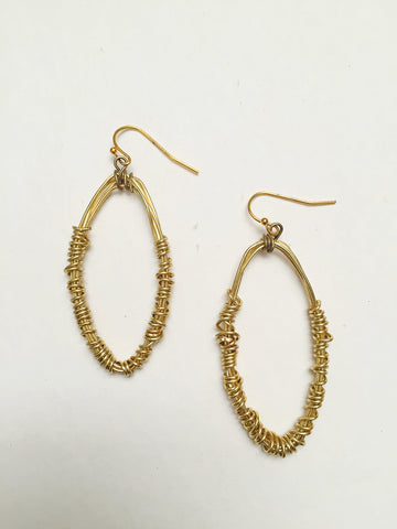 Gold Wire Wrapped Earrings