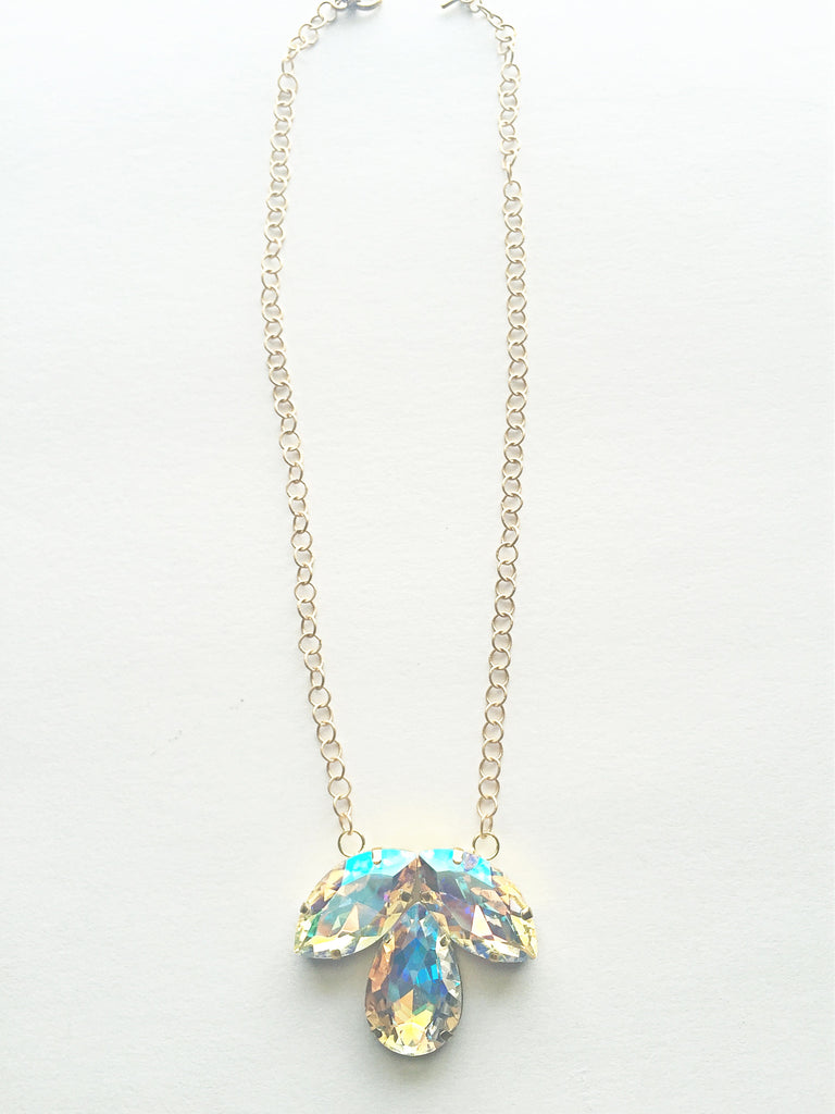 Crystal Clover Pendant Necklace - M Renee Design