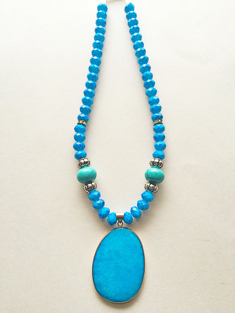 Turquoise Pendant Necklace - M Renee Design