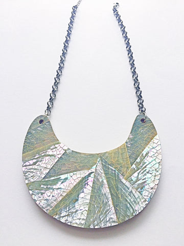 Mother of Pearl Mosaic Statement Necklace - M Renee Design
