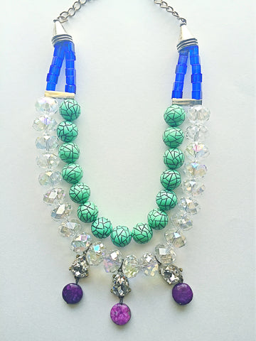 Crystal Jade Necklace- One of a Kind - M Renee Design