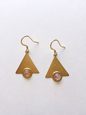 Triangle Sunburst Earrings - M Renee Design
