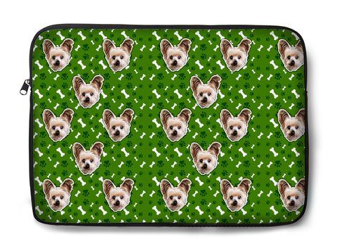 Custom Pet Pattern Laptop Sleeve (Multiple Sizes)