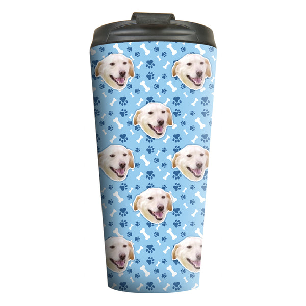 Custom Pet Pattern Travel Mugs (Multiple Sizes)