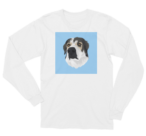 Men's Custom Pet Long Sleeve T-shirt