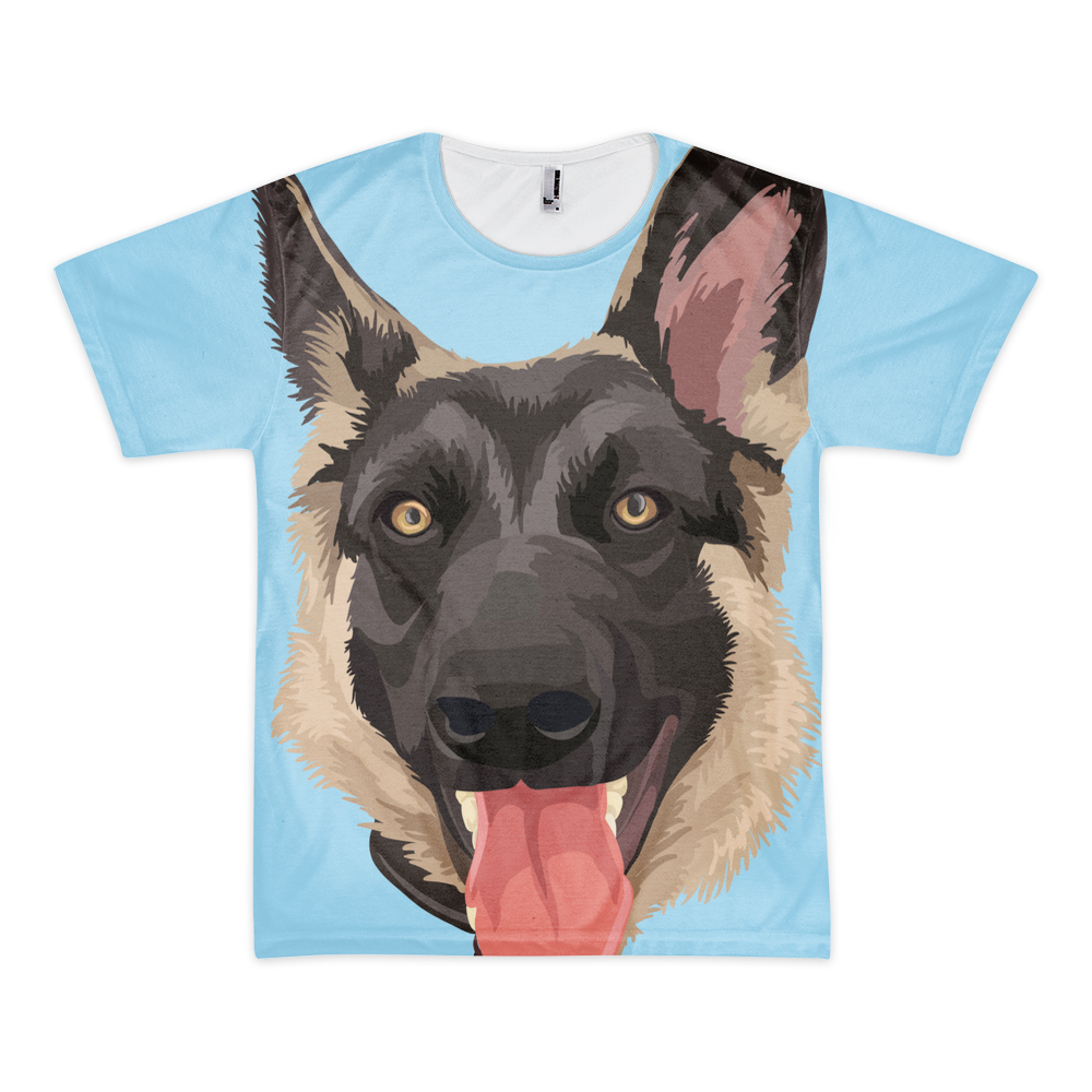 Men 39 S Custom All Over Print T Shirt Print Your Pet