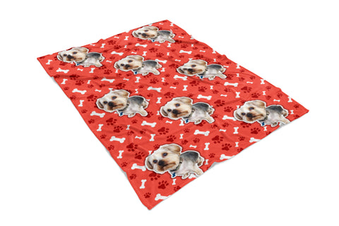 Custom Pet Pattern Fleece Blanket (New!)