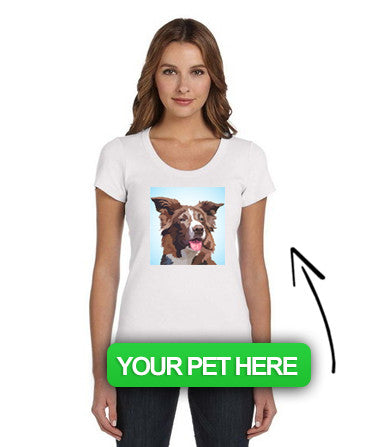 Women's Custom Pet Scoop Neck T-Shirt