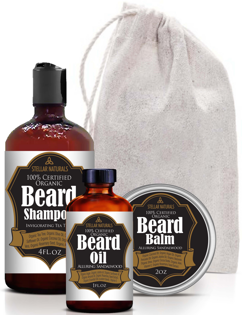 Best Beard Care Kit by Stellar Naturals: 100% Natural and Certified