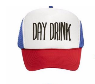 BACK IN STOCK - Day Drink Trucker Hat - Red White   Blue – Day Drink Inc 7189dbdba41