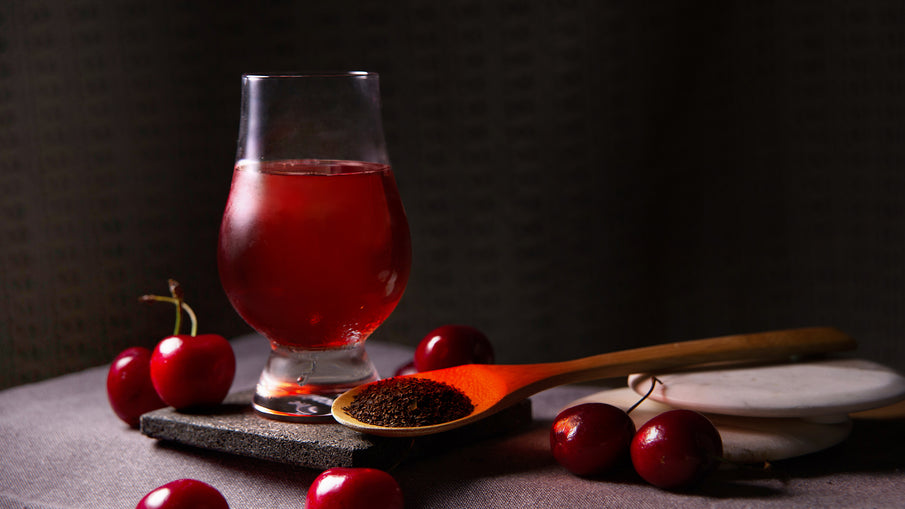 Cherry Tea Cider-perfect combination of tea and cider