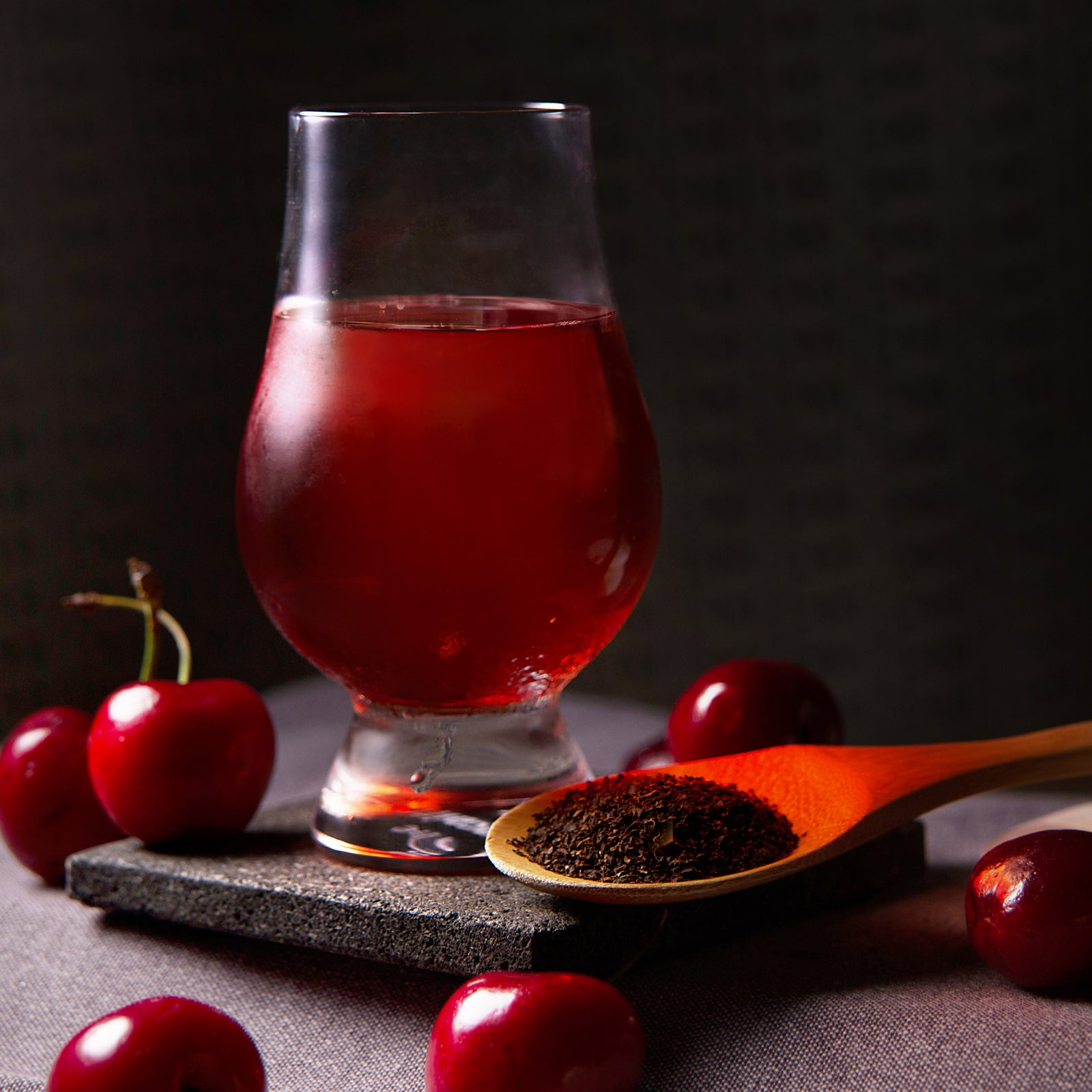 Black tea cherry cider