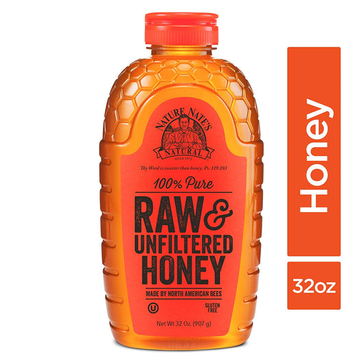 Nature Nate's 100% Pure Raw & Unfiltered Honey; 32-oz.