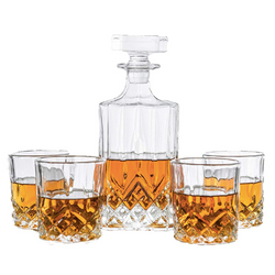 Decanter Set | Includes a 700 ml Decanter with 4 Matching Glasses