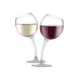 Tilted Wine Glass Set of 2, 13 oz, Glass