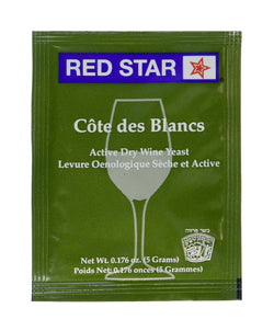 Yeast - Cote des Blanc (enhance clearness)