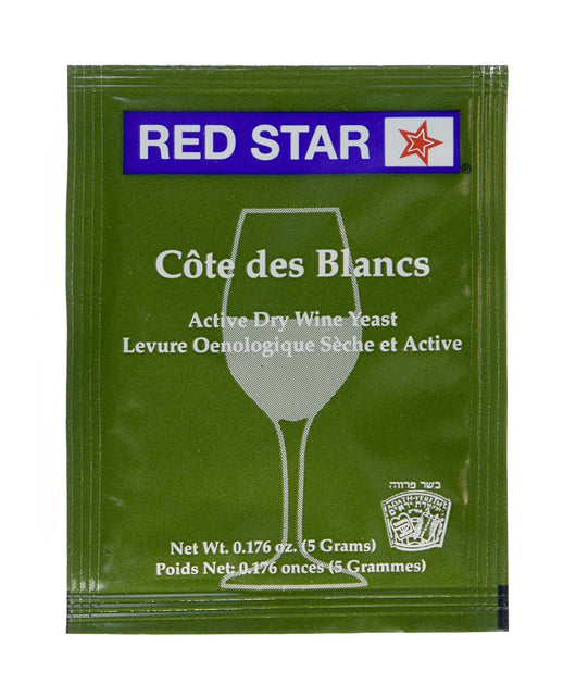 Yeast 5-Pack - Cote des Blanc (enhance clearness)