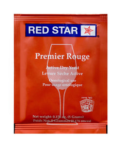 Yeast 5-Pack- Premier Rouge (enhance carbonation)