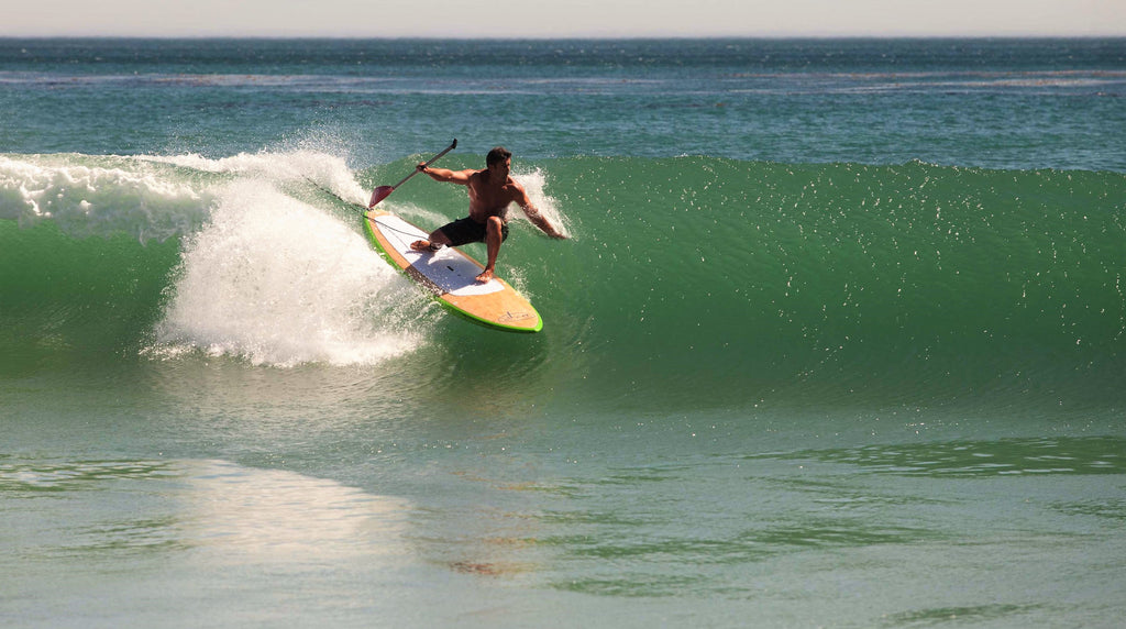 Doyle Surf Sup in action at Malibu