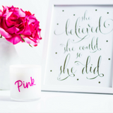 Pink from the Protect the Tatas collection - Sun City Candle Co