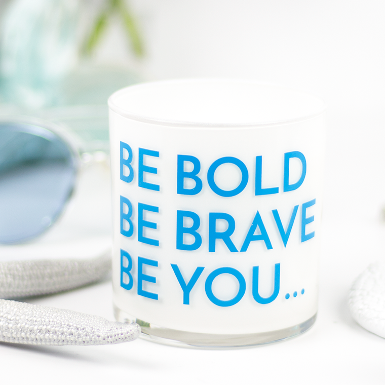 Be Bold Quote Jar in Mahogany & Coconut Scent