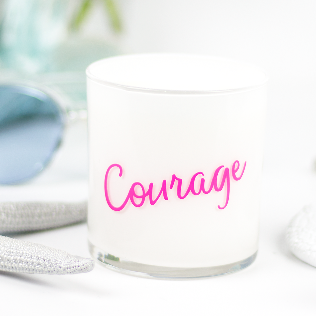 Courage Quote Jar in Candy Apple Scent