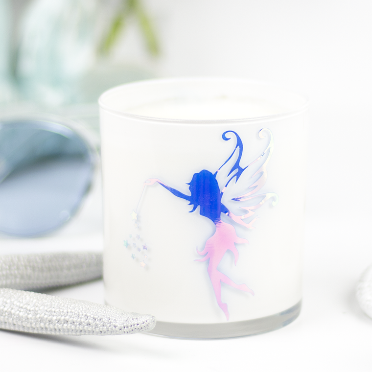 Fairy Graphic Jar in Cedar & Saffron Scent