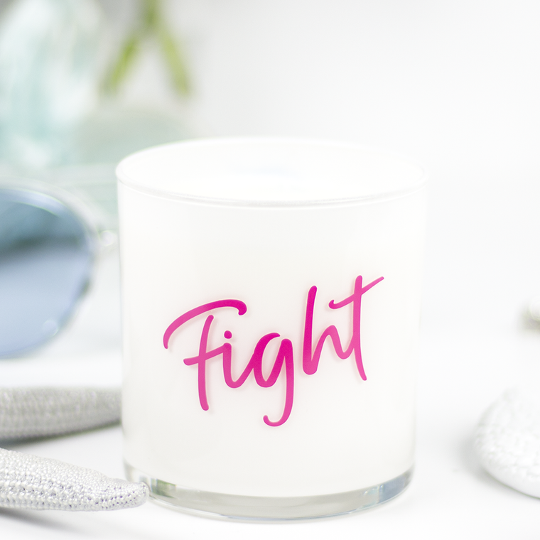 Fight Quote Jar in Clean Cotton Scent
