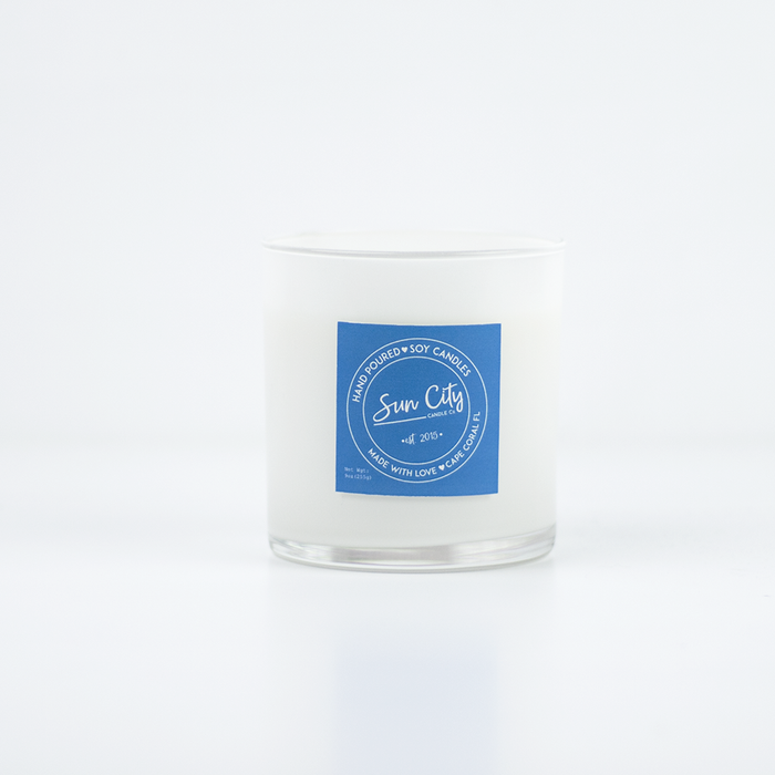 Heart Graphic Jar in Clean Cotton Scent