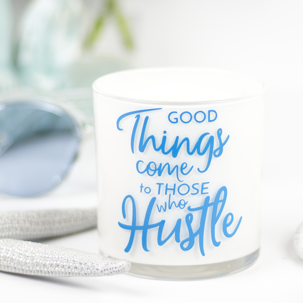 Good Things Quote Jar in Mahogany & Coconut Scent