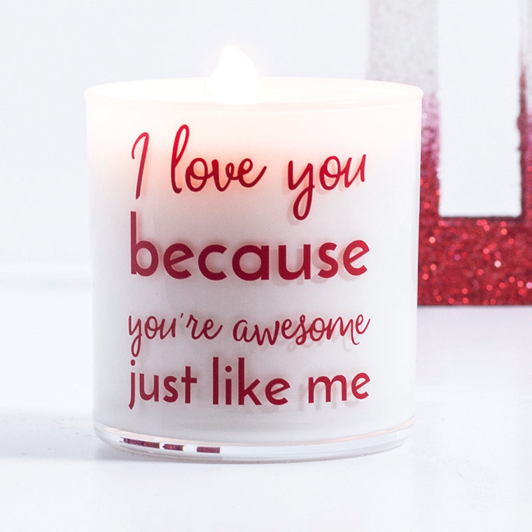 I Love You Quote Jar in Snow Angel Scent