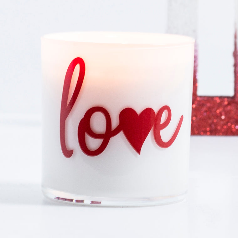 Love Graphic Jar in Candy Apple Scent
