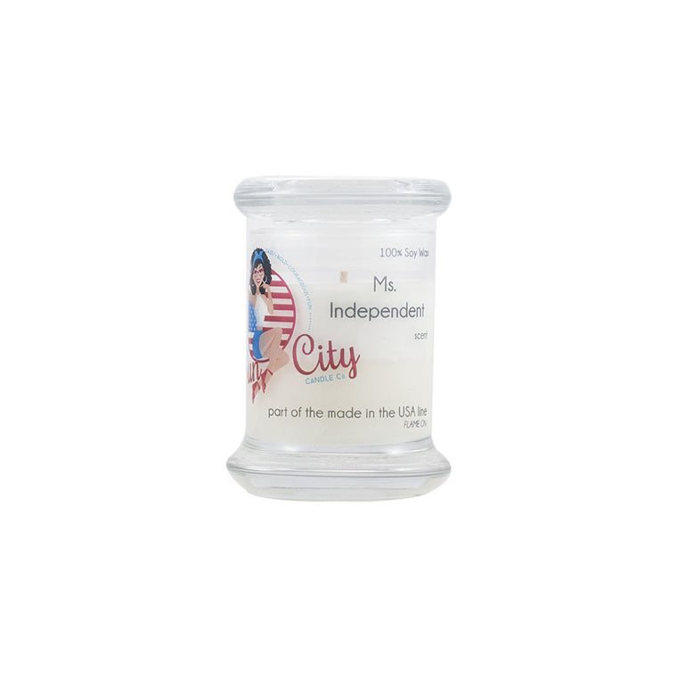 Ms. Independent Soy Candle Mini Glass Jar